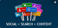 Social + Search + Content
